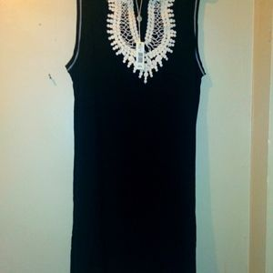 Max Studio Black Knee Length Dress Size Large